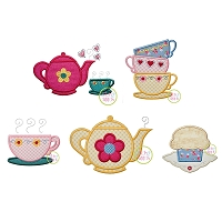 Tea Party Applique Design Set