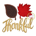 Thankful Leaves Applique