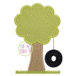 Tire Swing Tree Applique