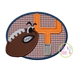 Tough Football Goal Post Applique