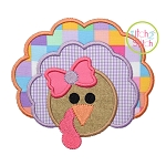 Turkey 2 Girl Applique