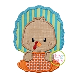 Turkey with Pumpkin Boy Applique