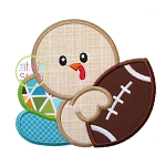 Turkey Football Applique