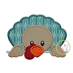 Turkey Peeker Boy Applique