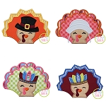 Turkey with Hats Set Applique
