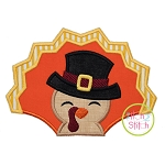 Turkey with Hat Boy Applique