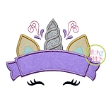Unicorn Horn Banner Applique
