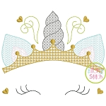 Unicorn Horn Crown Motif Embroidery