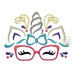 Unicorn Horn Glasses Embroidery
