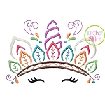 Unicorn Horn Indian Headdress Embroidery