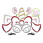 Unicorn Horn Jingle Bells Embroidery