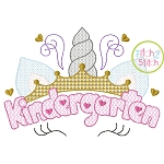 Unicorn Horn Kindergarten Motif Embroidery