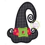 Whimsical Witch Hat Applique