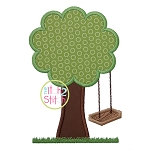 Wooden Swing Tree Applique