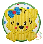 Tiger Circle Girl Applique