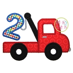 Tow Truck Number 2 Applique