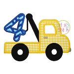 Tow Truck Number 4 Applique