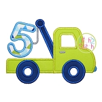 Tow Truck Number 5 Applique