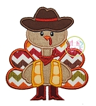Turkey Cowboy Applique