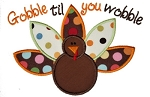 Turkey Gobble til Wobble Applique