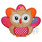 Owl Turkey Applique