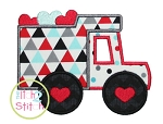 Valentine Truck Applique