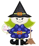 Witch Broom Applique