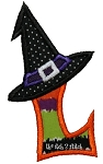 Witch Hat Applique Alpha Set