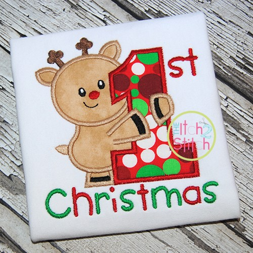 First Christmas Applique