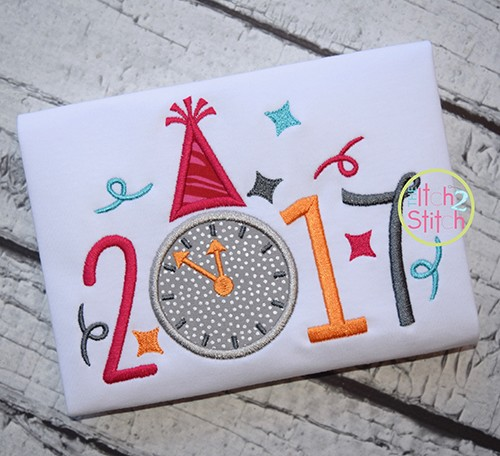 2017 New Year Applique