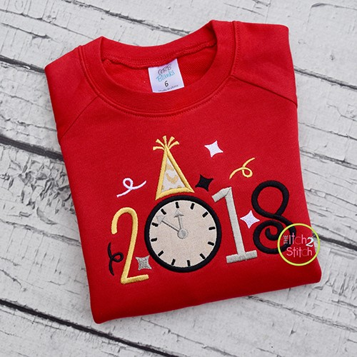 2018 New Year Applique