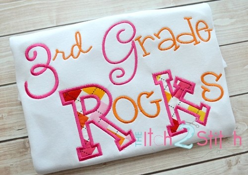 3rd Grade Rocks Applique