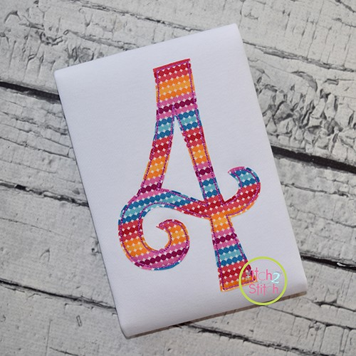 Amorette Bean Number Applique Font