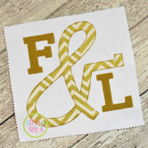 Ampersand for Stacked Serif Floss Applique