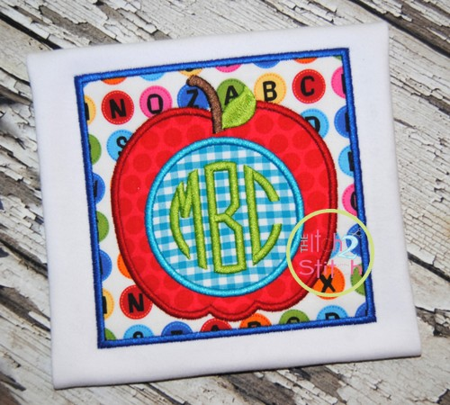 Apple Box Monogram Applique