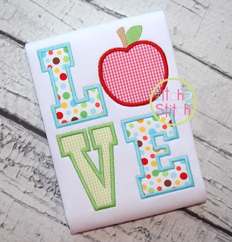 Apple LOVE Applique