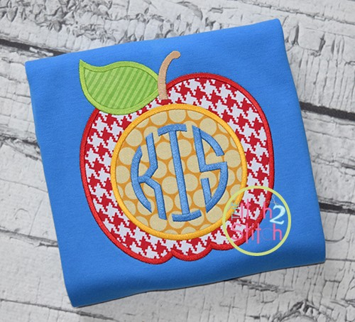 Apple for Monogram Applique