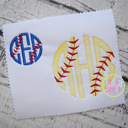 Baseball Laces Embroidery