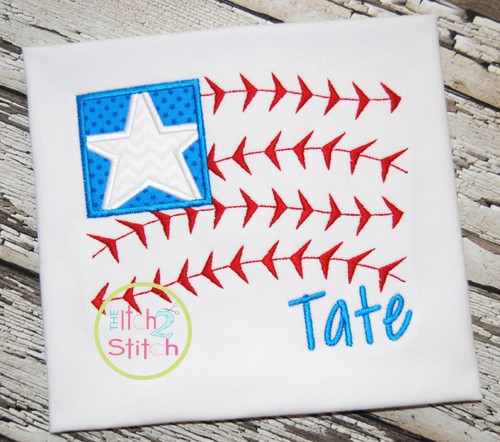 Baseball Flag Applique