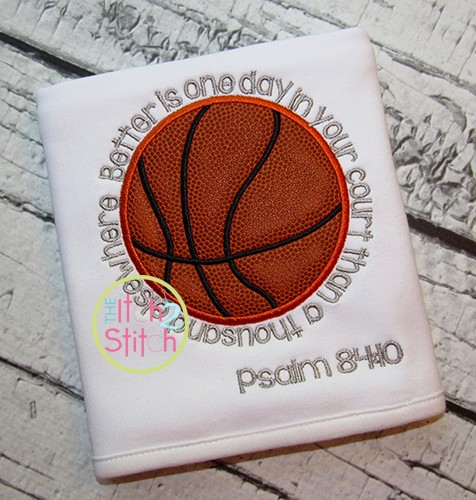 Basketball Psalm Applique with verse