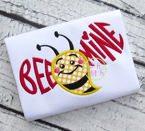 Bee Mine Bumblebee Applique