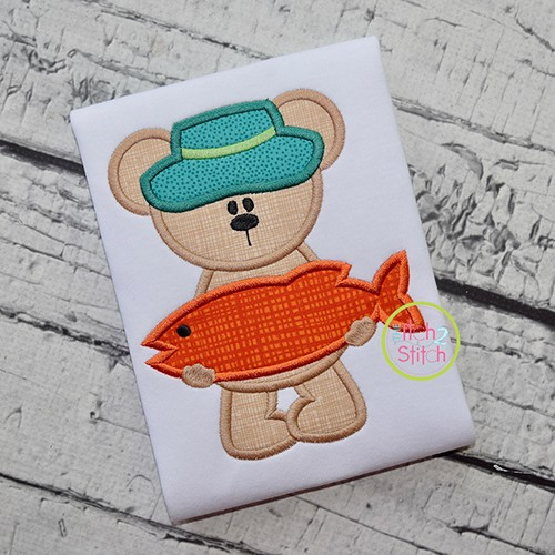 Big Fish Bear Applique