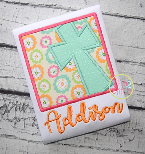 Cross Box Applique