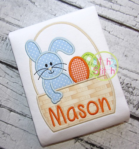 Easter Bunny Basket Applique