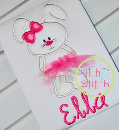 Bunny Tutu Applique
