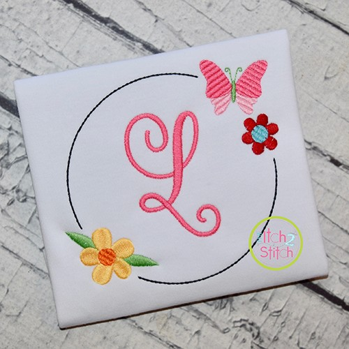 Butterfly Bloom Frame Embroidery Design