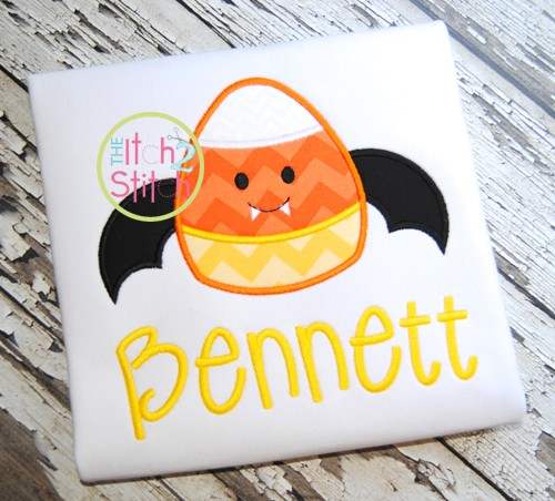 Candy Corn Bat Applique