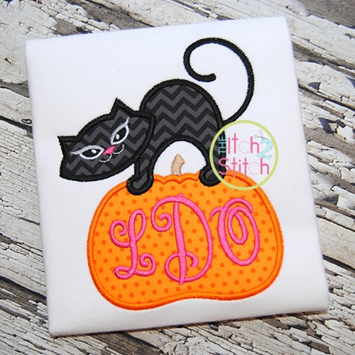 Cat Pumpkin Applique