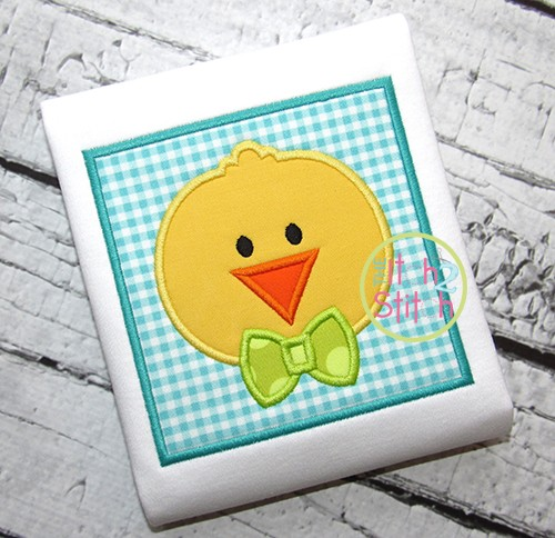 Chick Face Box Applique