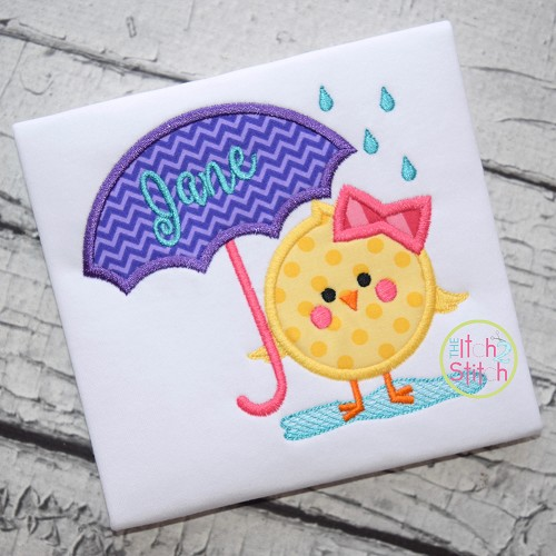 Chick Umbrella 2 Applique